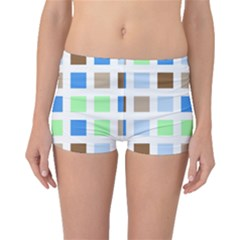 Colorful Green Background Tile Pattern Boyleg Bikini Bottoms