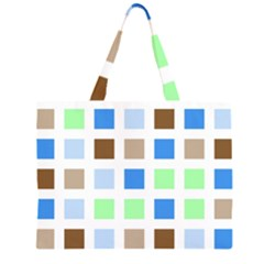 Colorful Green Background Tile Pattern Large Tote Bag