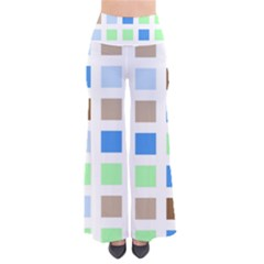 Colorful Green Background Tile Pattern Pants