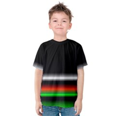 Colorful Neon Background Images Kids  Cotton Tee