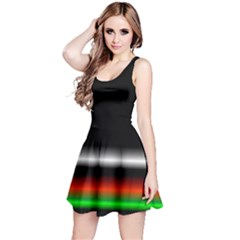 Colorful Neon Background Images Reversible Sleeveless Dress