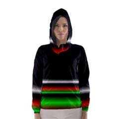 Colorful Neon Background Images Hooded Wind Breaker (women)