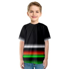 Colorful Neon Background Images Kids  Sport Mesh Tee