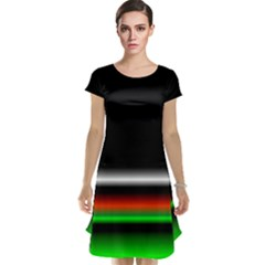 Colorful Neon Background Images Cap Sleeve Nightdress