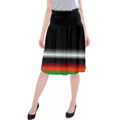 Colorful Neon Background Images Midi Beach Skirt