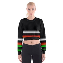 Colorful Neon Background Images Women s Cropped Sweatshirt