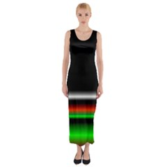 Colorful Neon Background Images Fitted Maxi Dress