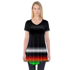 Colorful Neon Background Images Short Sleeve Tunic