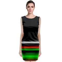 Colorful Neon Background Images Classic Sleeveless Midi Dress