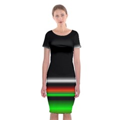 Colorful Neon Background Images Classic Short Sleeve Midi Dress