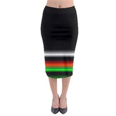 Colorful Neon Background Images Midi Pencil Skirt