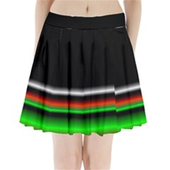 Colorful Neon Background Images Pleated Mini Skirt