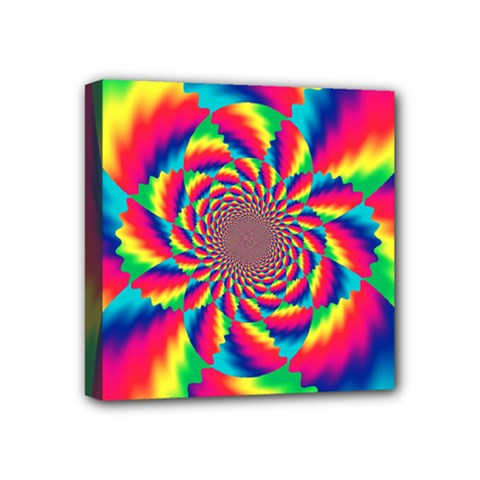 Colorful Psychedelic Art Background Mini Canvas 4  X 4
