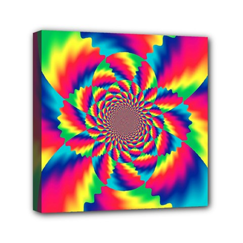 Colorful Psychedelic Art Background Mini Canvas 6  X 6