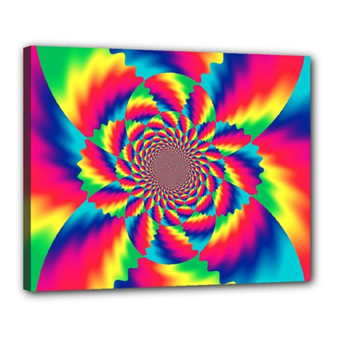 Colorful Psychedelic Art Background Canvas 20  X 16