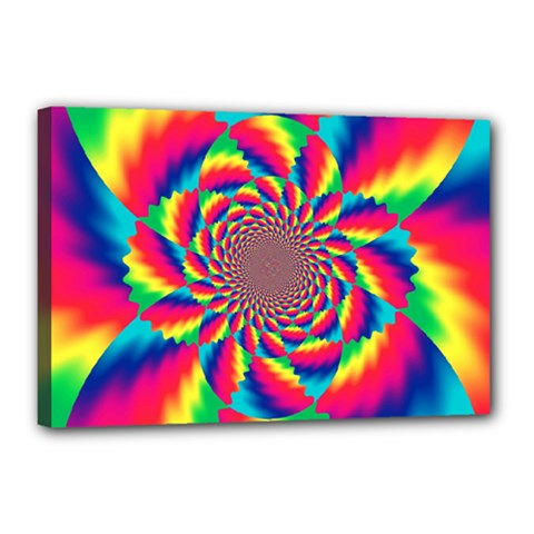 Colorful Psychedelic Art Background Canvas 18  X 12