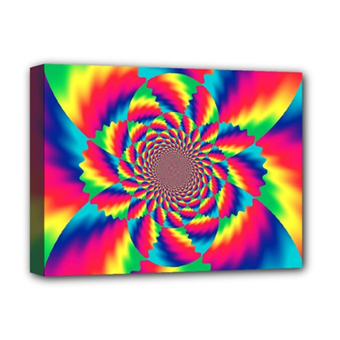 Colorful Psychedelic Art Background Deluxe Canvas 16  X 12