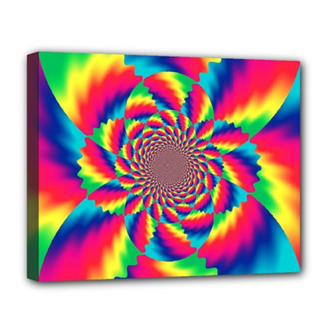 Colorful Psychedelic Art Background Deluxe Canvas 20  X 16
