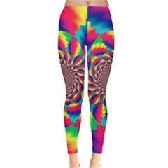 Colorful Psychedelic Art Background Leggings