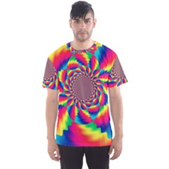 Colorful Psychedelic Art Background Men s Sport Mesh Tee