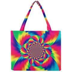 Colorful Psychedelic Art Background Mini Tote Bag