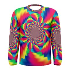 Colorful Psychedelic Art Background Men s Long Sleeve Tee