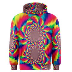Colorful Psychedelic Art Background Men s Pullover Hoodie