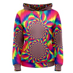Colorful Psychedelic Art Background Women s Pullover Hoodie