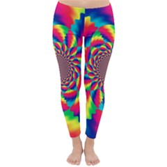 Colorful Psychedelic Art Background Classic Winter Leggings