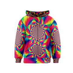 Colorful Psychedelic Art Background Kids  Zipper Hoodie