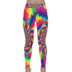 Colorful Psychedelic Art Background Classic Yoga Leggings