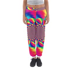 Colorful Psychedelic Art Background Women s Jogger Sweatpants
