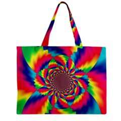Colorful Psychedelic Art Background Zipper Mini Tote Bag