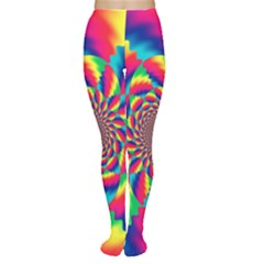 Colorful Psychedelic Art Background Women s Tights