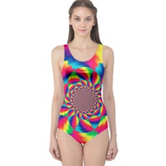 Colorful Psychedelic Art Background One Piece Swimsuit