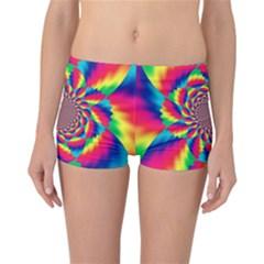 Colorful Psychedelic Art Background Reversible Bikini Bottoms