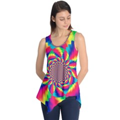 Colorful Psychedelic Art Background Sleeveless Tunic