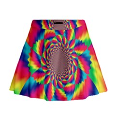Colorful Psychedelic Art Background Mini Flare Skirt