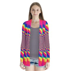 Colorful Psychedelic Art Background Cardigans