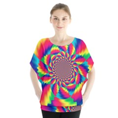 Colorful Psychedelic Art Background Blouse