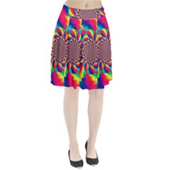 Colorful Psychedelic Art Background Pleated Skirt