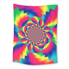 Colorful Psychedelic Art Background Medium Tapestry