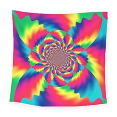 Colorful Psychedelic Art Background Square Tapestry (large)