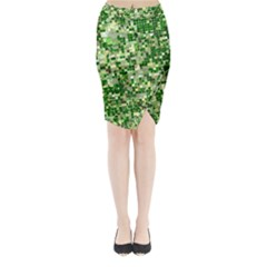 Crop Rotation Kansas Midi Wrap Pencil Skirt
