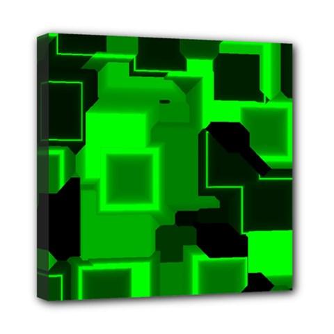 Cyber Glow Mini Canvas 8  X 8