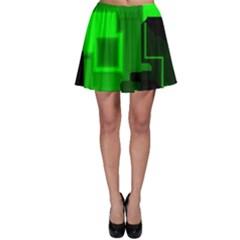 Cyber Glow Skater Skirt