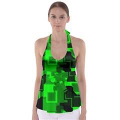 Cyber Glow Babydoll Tankini Top