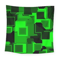Cyber Glow Square Tapestry (large)