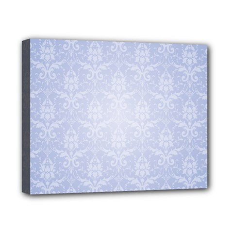 Damask Pattern Wallpaper Blue Canvas 10  X 8