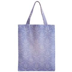 Damask Pattern Wallpaper Blue Classic Tote Bag
